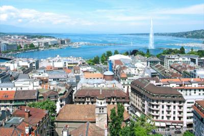 View of Geneva and the Jet d'Eau