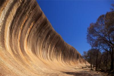 Wavy rock in the Golden Outback