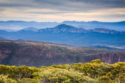 Panoramic view of the Grampians