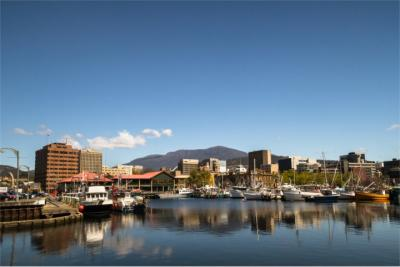 Panoramic view of Hobart