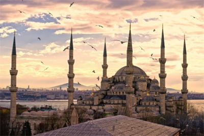 Famous mosque in Istanbul