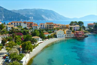 A typical village on Kefalonia