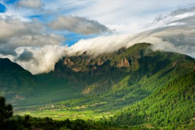 Mountains and clouds on La Palma