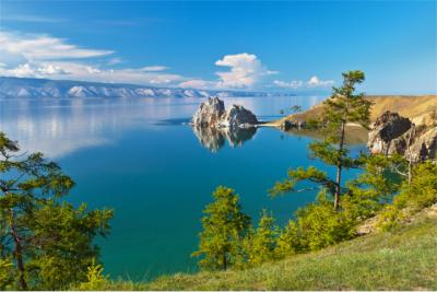 Panoramic view of Lake Baikal