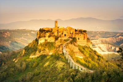 Landscape and medieval town in Lazio
