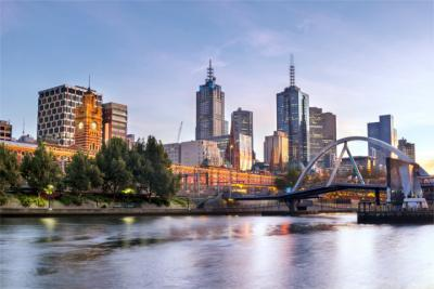 Panoramic view of Melbourne