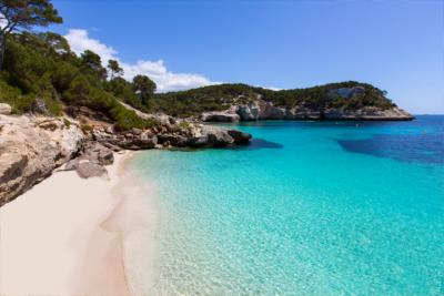 Cala Mitjaneta, placid bay on Minorca
