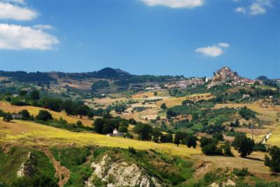 Hilly landscape of Molise