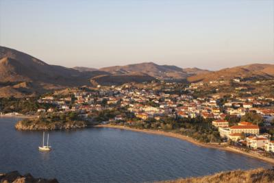 View of the island of Lemnos