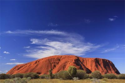 Famous rock in the Northern Territory