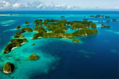 The South Sea island of Palau