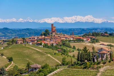 Mountainous and hilly landscape of Piedmont