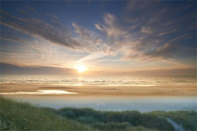 Beach scenery in South Jutland