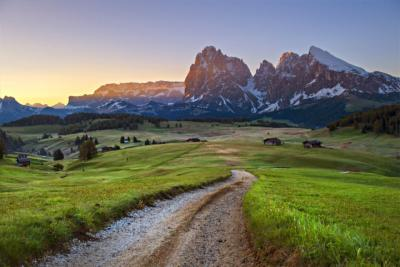 Well-known mountain landscape in Trentino-South Tyrol