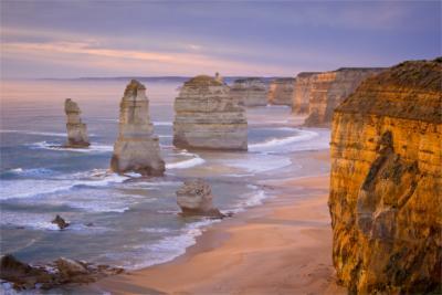 Rocky coastal landscape in Victoria