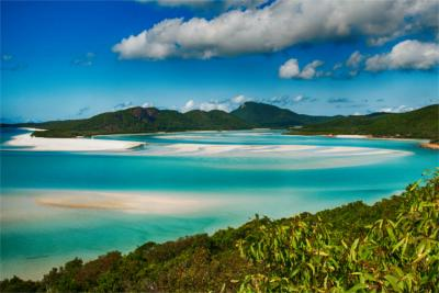 Sandy beach in Queensland