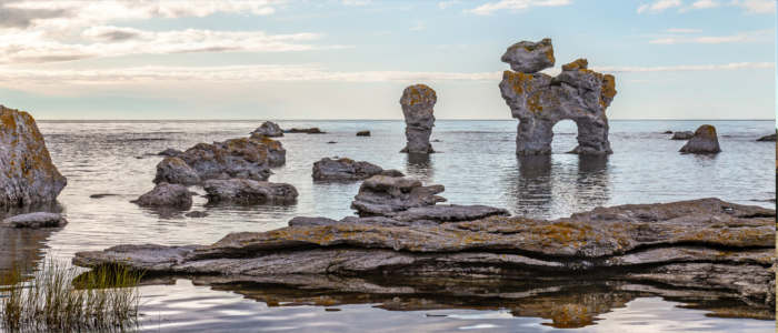 Rock formations on the island of Fårö