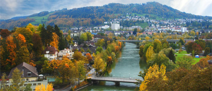 The river Aare in Bern