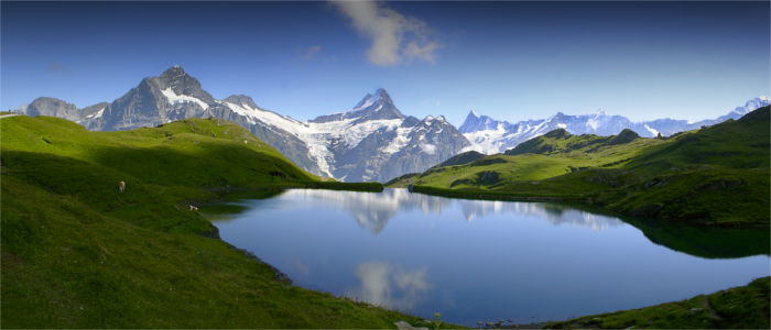 The Bernese Alps and a lake