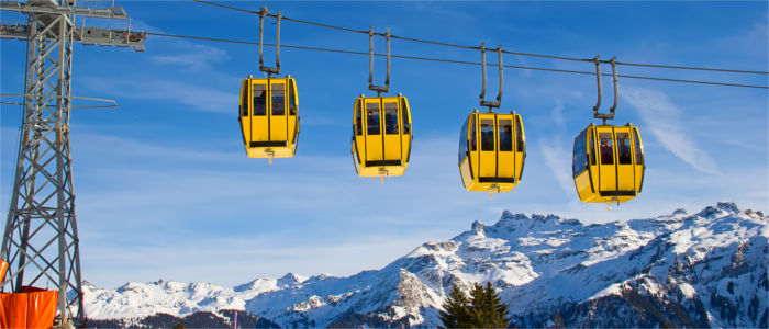 Cable car in the Canton of Glarus