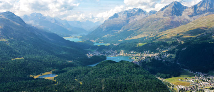 The populated Engadin valley