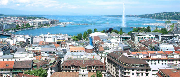 View of the city Geneva