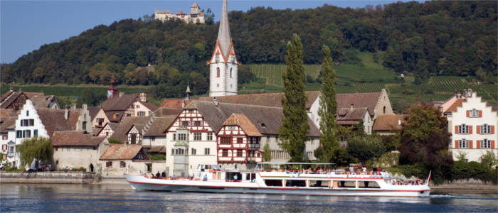Stein am Rhein and the castle on the hill