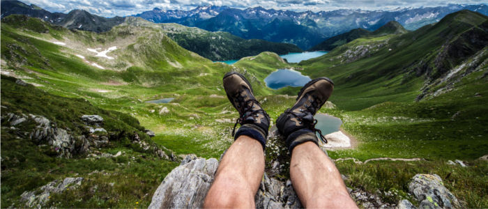 Relaxing in the mountains of Ticino above Lago Ritom