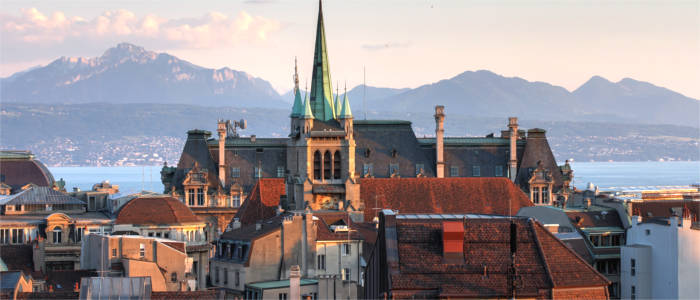 Lausanne in the Canton of Vaud