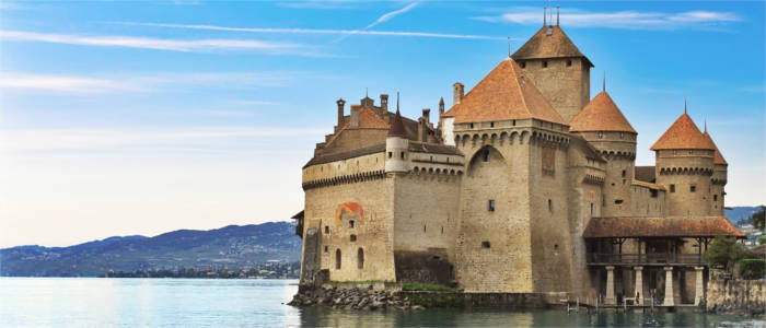 Chillon Castle in the Canton of Vaud