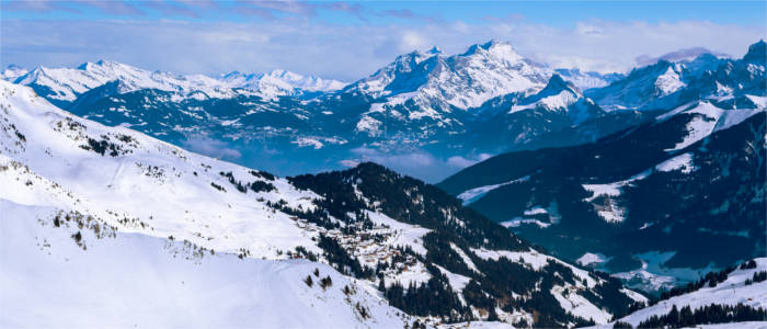 Les Diablerets in the Canton of Vaud