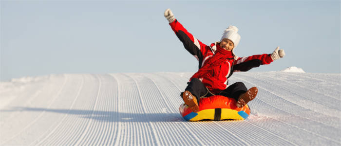 Snow tubing in Switzerland