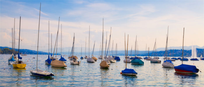 Lake Zurich with Boats