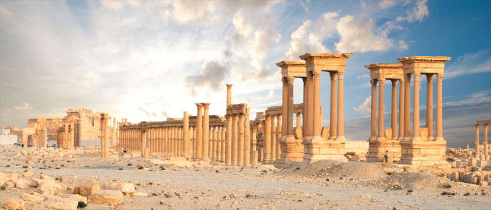 The Syrian ruins of Palmyra