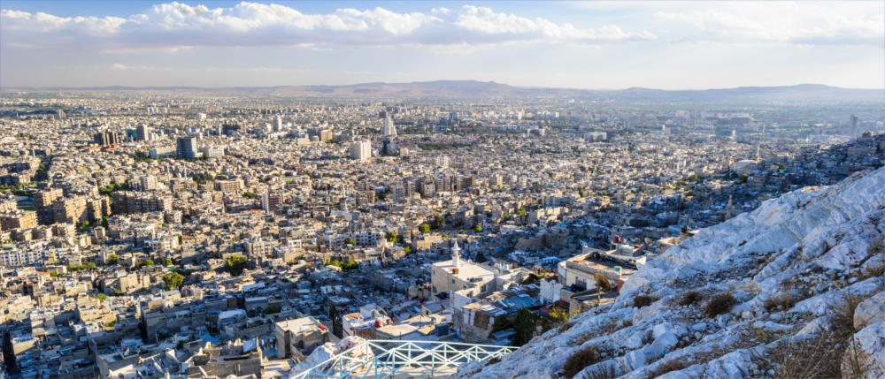 The Syrian capital of Damascus