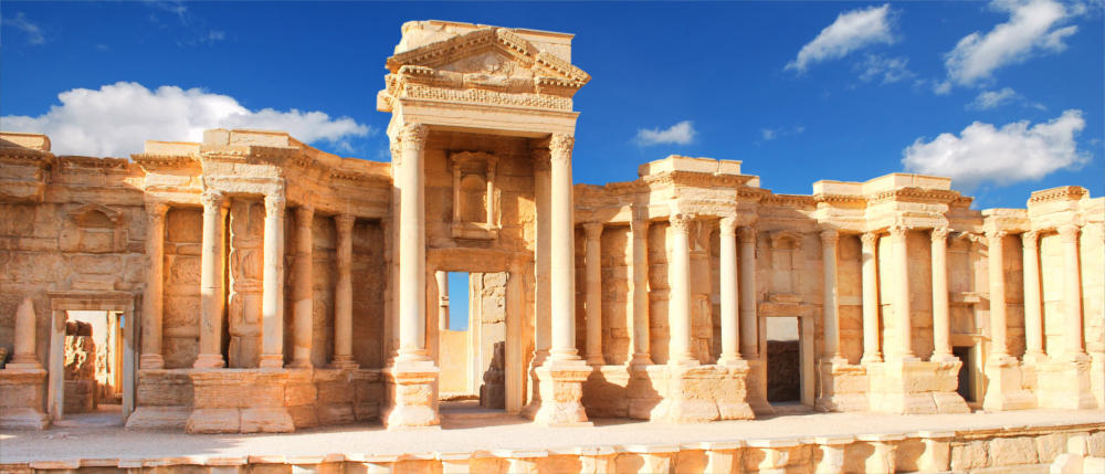 Ruined city of Palmyra in Syria
