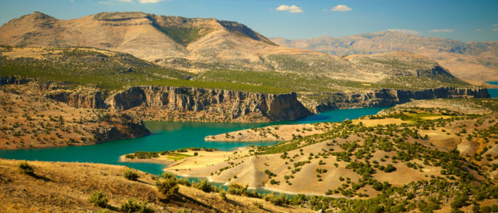 Canyon of river Euphrates in Turkey