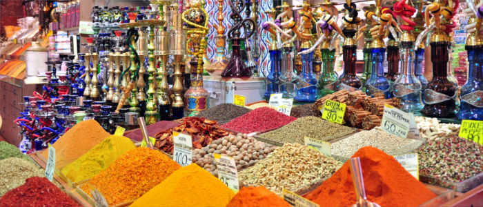 Spices on a bazaar in Turkey