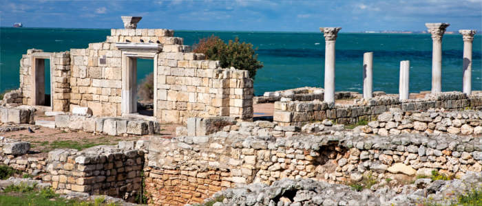 Greek ruins in Sevastopol on the Crimean Peninsula
