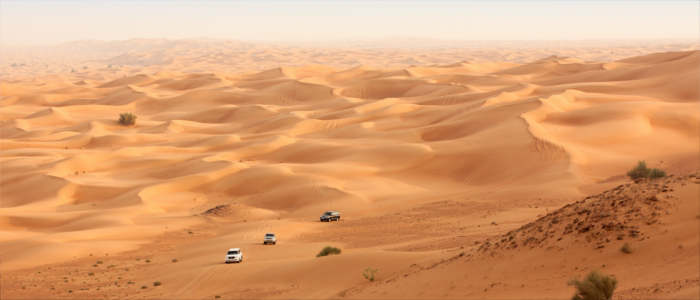 The desert of the United Arab Emirates