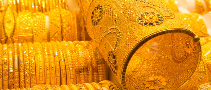 Treasures on the gold souk in Dubai