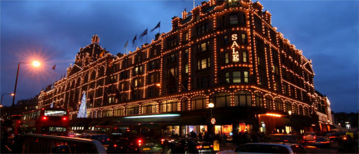 World-famous department store in London