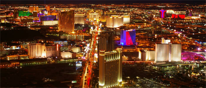 Las Vegas' skyline by night
