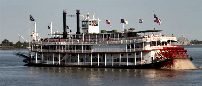 Mississippi steamboat in New Orleans